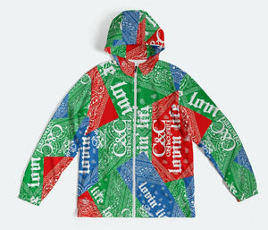 BLUE AND RED MAKE GREEN $$$$$ Windbreaker