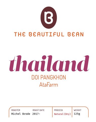 125g-Thailand Doi Pangkhon, Ata Farm - Natural (Dry) process
