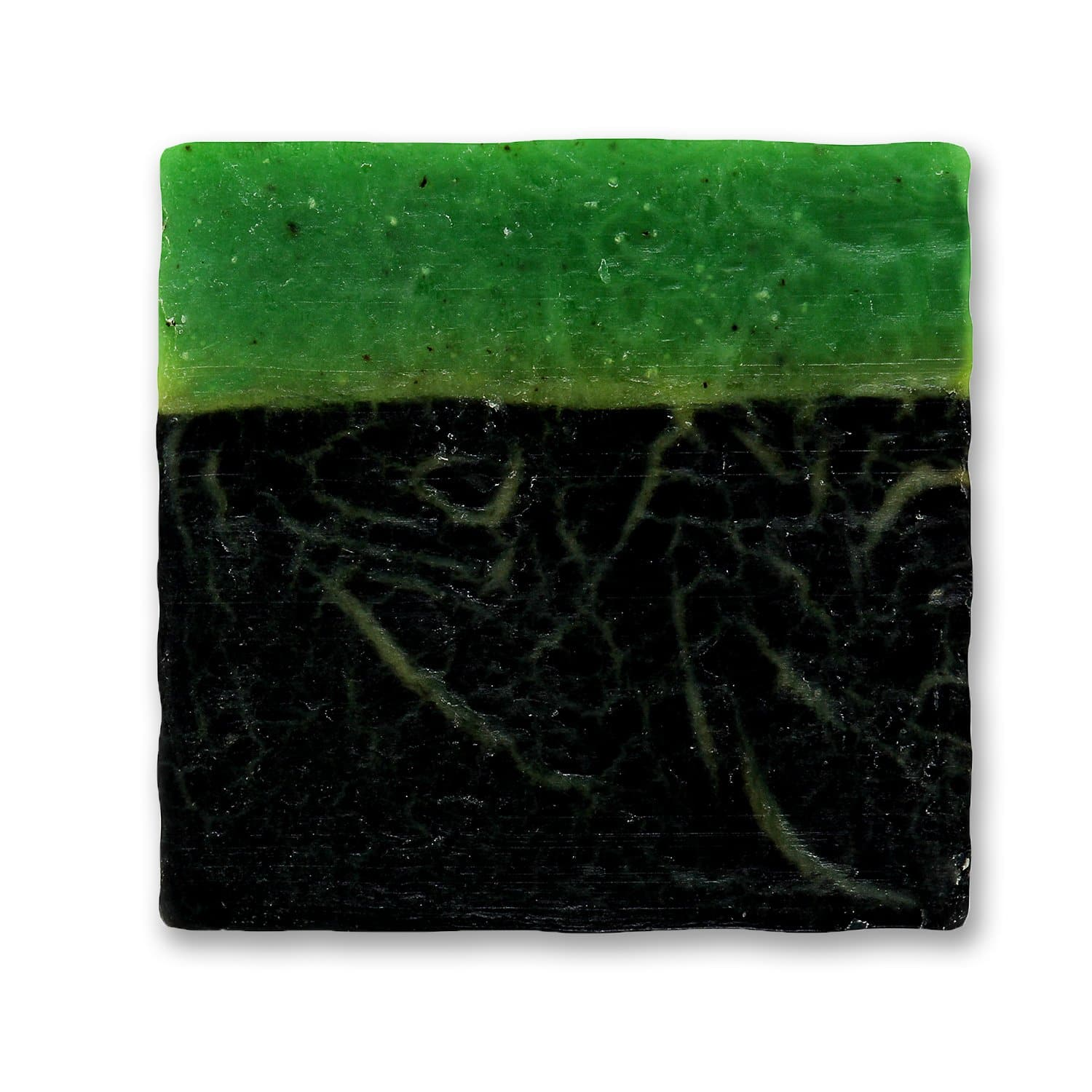 Clear Skin Anti-Acne and Tan-Removal Activated Charcoal and Green Tea Handcrafted Soap, 100g