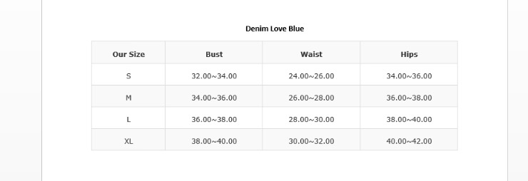 Denim Love Blue Swim Set