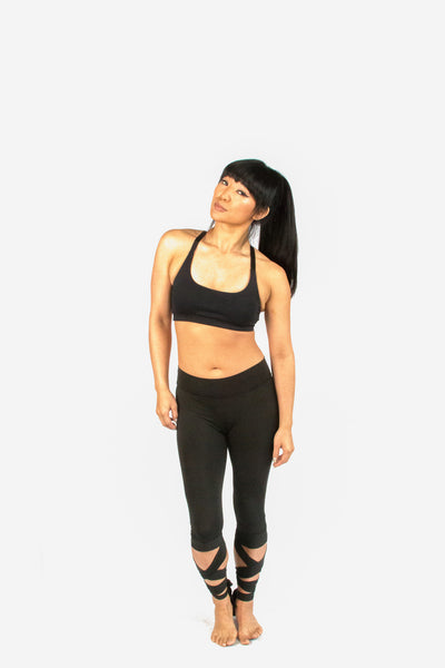 Fitness Tie Up Legging-Black