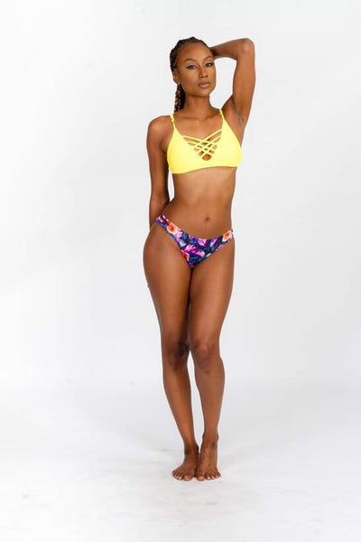 Tropical Gal Swim Set-Yellow