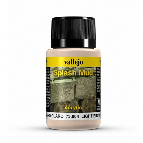Vallejo Weathering Effects Light Brown Splash Mud 40 ml - Ozzie Collectables