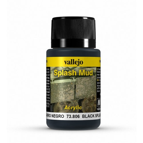 Vallejo Weathering Effects Black Splash Mud 40 ml - Ozzie Collectables