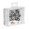 Oakie Doakie Dice RPG Set Marble - Black (7) - Ozzie Collectables