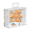 Oakie Doakie Dice RPG Set Marble - Orange (7) - Ozzie Collectables