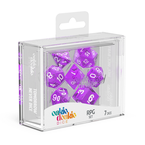 Oakie Doakie Dice RPG Set Translucent - Purple (7) - Ozzie Collectables
