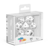 Oakie Doakie Dice RPG Set Solid - White (7) - Ozzie Collectables