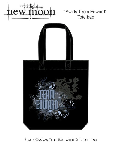 The Twilight Saga: New Moon - Bag Tote Team Edward Swirls - Ozzie Collectables