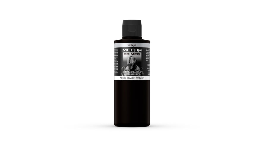 Vallejo Mecha Colour Black Primer 200ml - Ozzie Collectables