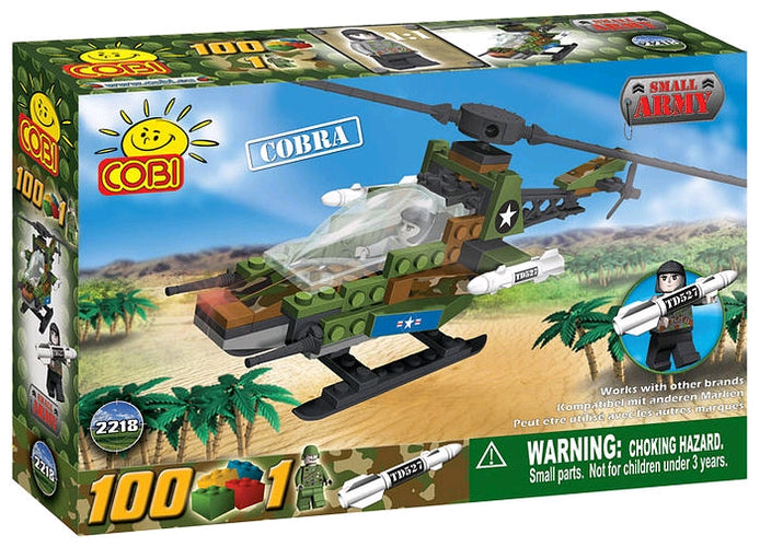 Small Army - 100 Piece Cobra Military Helicopter Construction Set - Ozzie Collectables