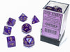 CHX 27587 Borealis Polyhedral Royal Purple/Gold Luminary 7-Die Set
