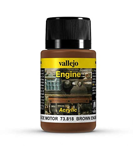 Vallejo Weathering Effects Brown Engine Soot 40 ml - Ozzie Collectables