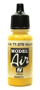 Vallejo Model Air Yellow RLM04 17 ml - Ozzie Collectables