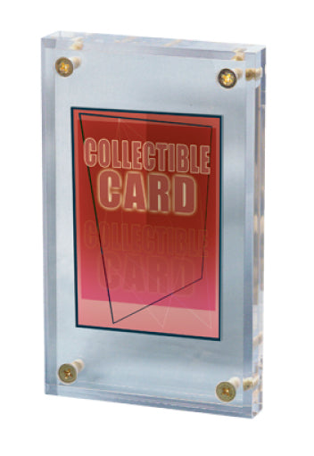 """Ultra Pro 1/"""" Thick Lucite Screwdown Trading Card Display"""