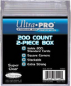 Ultra Pro - 2 Piece Plastic Box 200 Count - Ozzie Collectables
