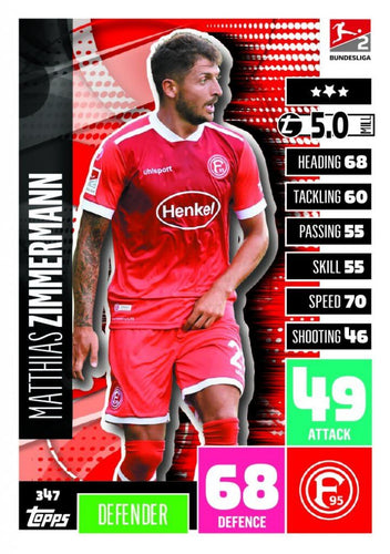 MATCH ATTAX Bundesliga 2020/2021 Trading Card