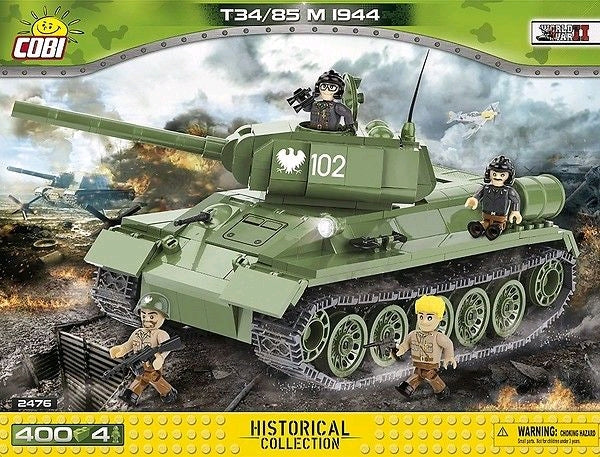 World War II - 400 piece T34/85 M 1944 Soviet Tank on Ozzie Collectables