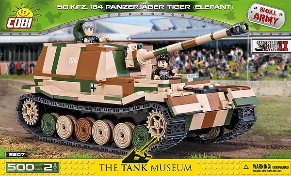 Small Army - 500 piece Sd.Kfz.184 Panzerjager Tiger (Elefant) on Ozzie Collectables