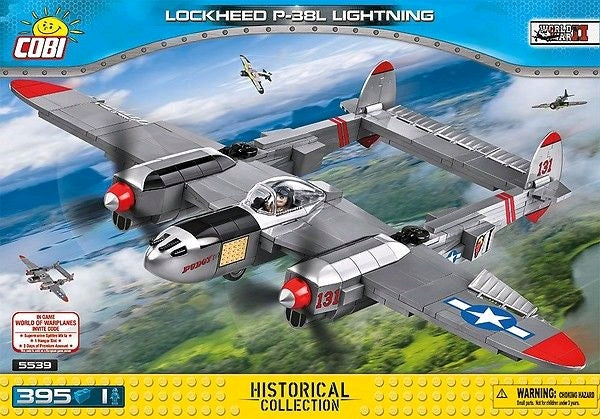 World War II - 395 piece Lockheed P-38L Lightning on Ozzie Collectables