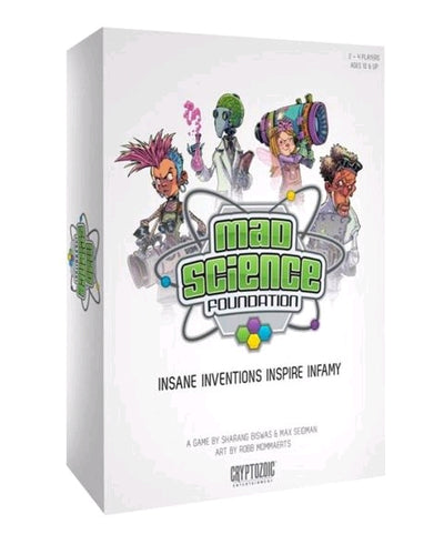 Mad Science Foundation - Board Game - Ozzie Collectables
