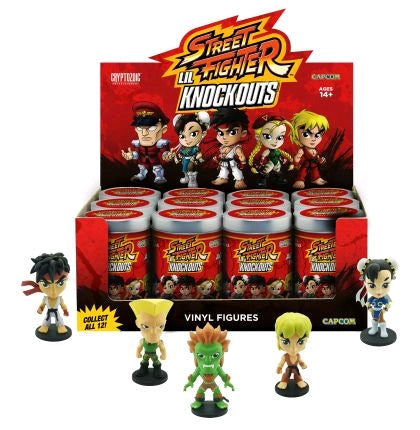 "Street Fighter - Lil' Knock-Outs 3"" Vinyl Figure series 01 (Display of 12) - Ozzie Collectables"