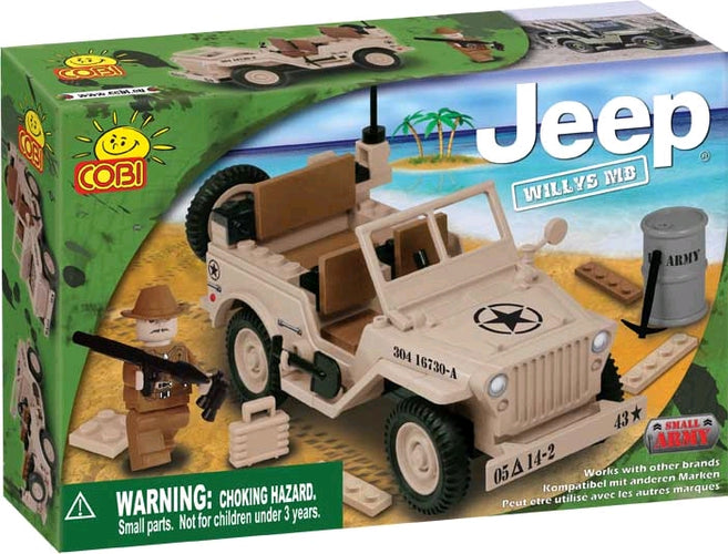Small Army - 100 Piece Willys Desert MB Jeep Construction Set - Ozzie Collectables