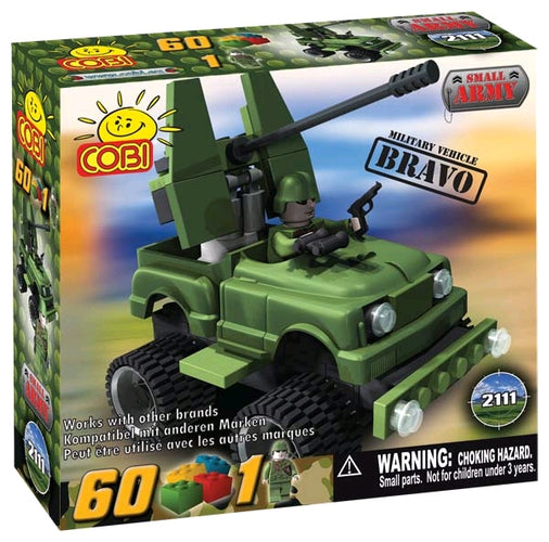 Small Army - 60 Piece Bravo Military Vehicle Construction Set - Ozzie Collectables