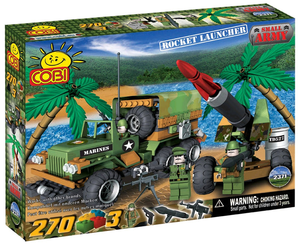 Small Army - 270 Piece Rocket Launcher Military Vehicles Construction Set - Ozzie Collectables
