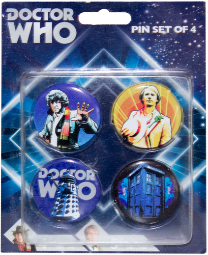 Doctor Who - Retro Pinset of 4 - Ozzie Collectables