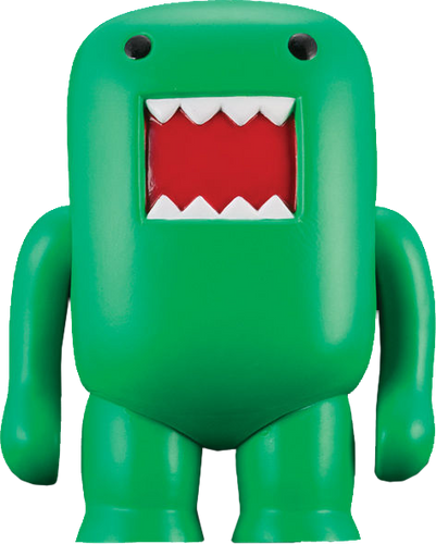 "Domo - 4"" Vinyl Figure Black-light Green - Ozzie Collectables"