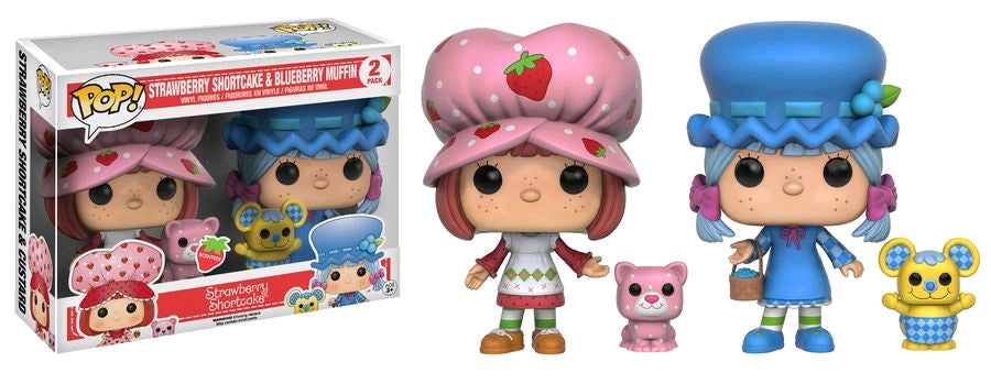 Strawberry Shortcake - Strawberry & Blueberry Scented US Exclusive Pop! Vinyls 2-Pack - Ozzie Collectables