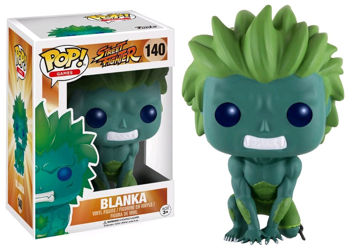 Street Fighter - Blanka Blue/Green US Exclusive Pop! Vinyl - Ozzie Collectables