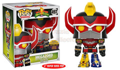 Megazord 6 inch Toy Tokyo Sticker - Mighty Morphin Power Rangers POP! Vinyl Television 2017 San Diego Summer Convention Exclusive - Ozzie Collectables