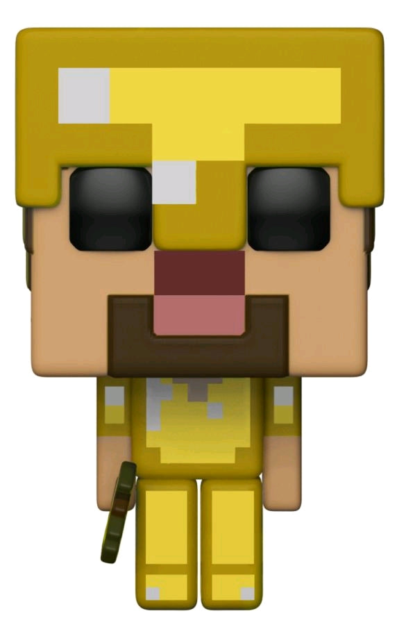 Minecraft Steve With Gold Armor Axe Us Exclusive Pop Vinyl Ozzie Collectables