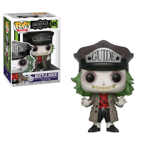Beetlejuice - Beetlejuice with Guide Hat Pop! Vinyl - Ozzie Collectables