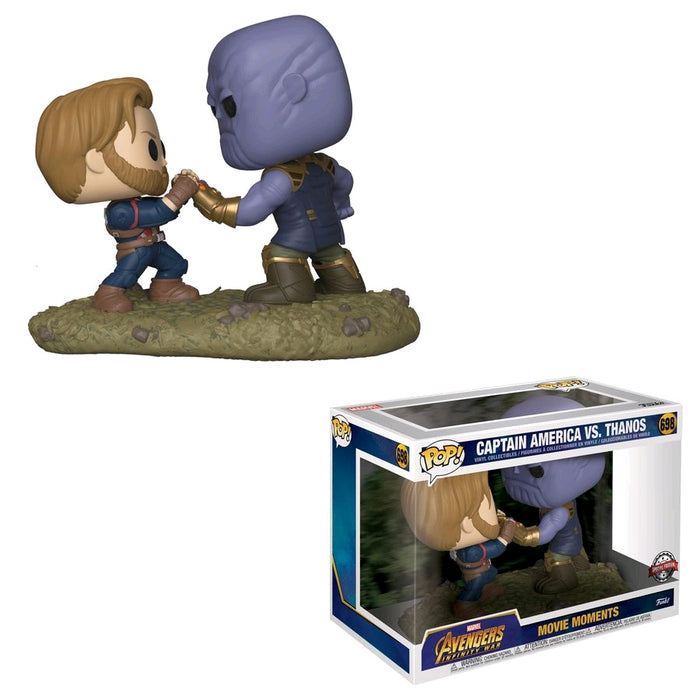 Avengers 3: Infinity War - Captain America vs Thanos Movie Moment US Exclusive Pop! Vinyl [RS] on Ozzie Collectables