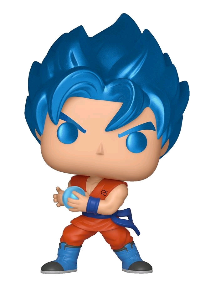 Dragon Ball Z Vinyl-F... SSGSS Goku with Kamehameha Metallic US Exclusive Pop