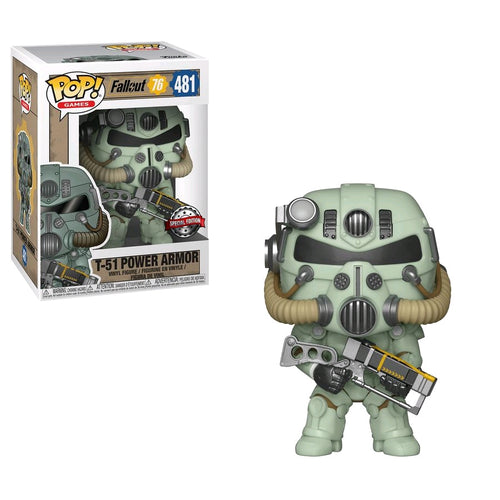 Fallout 76 - T-51 Power Amor (Green) US Exclusive Pop! Vinyl - Ozzie Collectables