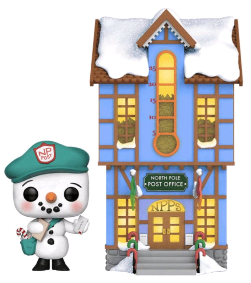 Peppermint Lane Frosty with Light Up Post Office US Exclusive Pop RS... Town