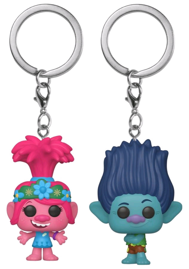Trolls World Tour Poppy Branch Us Exclusive Pocket Pop Keychain 2 Pack Ozzie Collectables