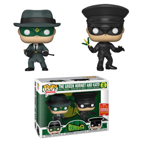 The Green Hornet (1960) - Green Hornet & Kato 2-Pack POP! Vinyl 2018 San Diego Summer Convention Exclusive [RS]