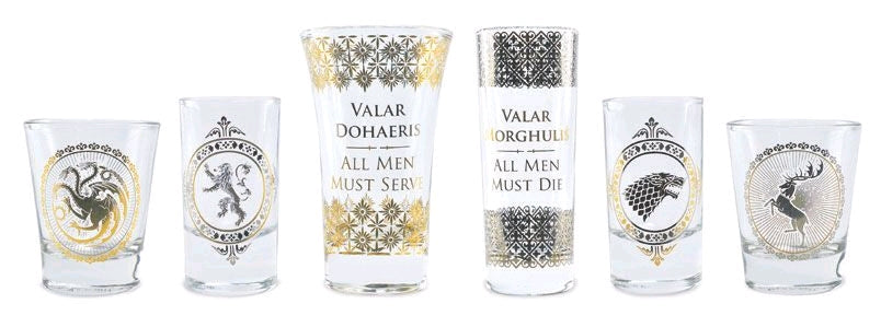 Game of Thrones - Black & Gold Premium Glass Set - Ozzie Collectables