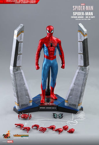 "SpiderMan (Video Game 2019) - Spider Armor Mark IV 1:6 Scale 12"" Action Figure - Ozzie Collectables"