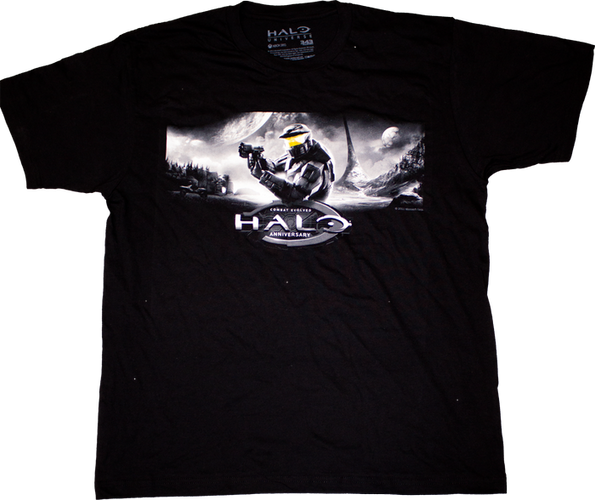 Halo - Anniversary Black T-Shirt XL - Ozzie Collectables