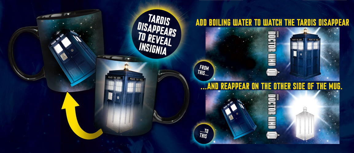 Doctor Who - Disappearing TARDIS Heat Changing Mug - Ozzie Collectables