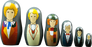 Doctor Who - First - Sixth Doctor Nesting Doll Set - Ozzie Collectables