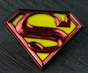 Superman - Logo Colour Enamel Lapel Pin - Ozzie Collectables
