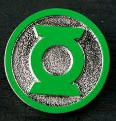 Green Lantern - Logo Colour Enamel Lapel Pin - Ozzie Collectables