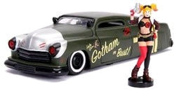 DC Bombshells - Harley Quinn 1951 Mercury 1:24 Scale Hollywood Rides Diecast Vehicle - Ozzie Collectables